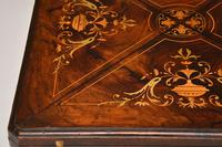 Antique Victorian Inlaid Rosewood Envelope Card Table (11 of 12)