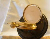 Pocket Watch 1937 Swiss 15 Jewel 9ct Rose Gold Filled Half Hunter FWO (8 of 12)