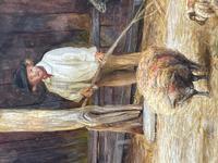 "Watercolour ""Tending The Sheep"" By Bertha Rhodes RA Rca Exh 1905 -1912 (19 of 41)"