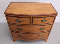 18th Century Satinwood Bow Fronted Chest of Drawers (6 of 12)
