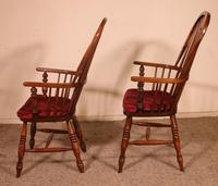 Near Pair of English Windsor Armchairs - 19th Century (4 of 11)