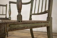 Charming Near Pair of Regency Green Painted Occasional / Elbow Chairs (4 of 14)