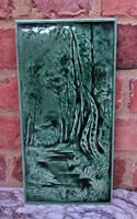 Victorian Emaux Ombrants Art Pottery Tile, Burmantofts or Similar c.1880 (4 of 4)