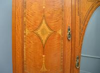 Stunning Victorian Satinwood & Marquetry Compactum Wardrobe (21 of 24)