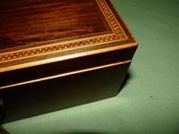 Georgian Inlaid Rosewood Jewellery / Table Box c.1825 (8 of 12)