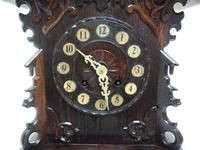 Rare Cuckoo Mantel Clock – German Black Forest Carved Bracket Clock (11 of 12)