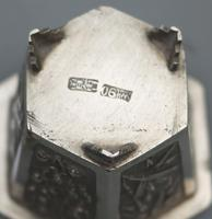 Wang Hing - Pair of Chinese Trade Solid Silver Novelty Salts & Liners c.1900 (10 of 11)