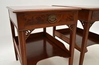 Pair of Antique Mahogany Side /  Bedside Tables (7 of 12)