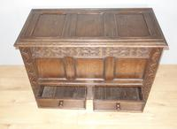 Carved Oak Two Drawer Coffer (6 of 7)