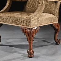 Mid 18th Century George II Walnut Library Open Armchair of Grande Scale (7 of 9)