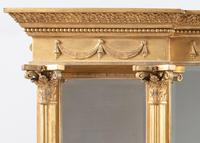 Late 19th Century Large Victorian English Gilt Triple Plate Overmantle Mirror (11 of 12)