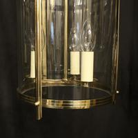 French Set of 3 Convex Antique Hall Lanterns (7 of 10)