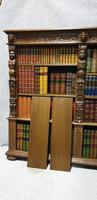 Outstanding Carved Oak Open Library Bookcase (11 of 16)