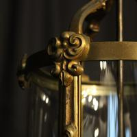 French Gilded Bronze Antique Hall Lantern (5 of 9)