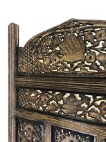Vintage Indian Hardwood Three Panel Screen Room Divider (m-1806) (5 of 10)