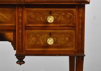 Edwardian Mahogany & Marquetry Writing Table by Jas Shoolbred (6 of 18)