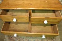 Antique Stripped Pine Chest of Drawers (6 of 9)