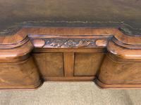 Excellent Queen Anne Style Burr Walnut Writing Table (6 of 16)
