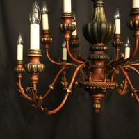 Florentine 12 Light Polychrome & Toleware Chandelier (2 of 10)