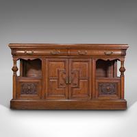 Large Antique Dresser Base, Scottish, Oak, Buffet, Server, Late Victorian, 1880 (2 of 12)