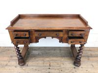 Antique Mahogany Desk with Barley Twist Supports (3 of 13)