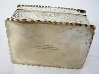 Decorative Rectangular William Comyns Victorian Silver Box (8 of 8)