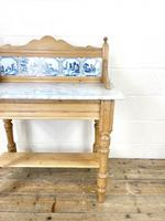 Antique Pine & Marble Washstand (3 of 10)