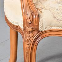 Pair of Louis XV Style Open Armchairs Fauteuils (4 of 10)