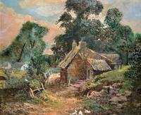 Original 19th Century British Farmland Countryside Landscape Oil Painting (5 of 11)