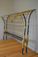 Rare Antique Victorian R.W Winfield 5ft King Size Brass & Iron Sleigh Bed (6 of 21)
