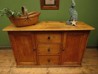 Victorian Rustic Antique Pine Sideboard Kitchen Unit (22 of 22)