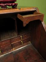 Antique Carved Oak Writing Bureau Desk with Fall Front, Handsome Gothic Piece (22 of 24)