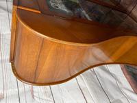 Art Deco Walnut Curved Bookcase Display Storage Cabinet (15 of 29)