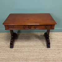 Quality Victorian Mahogany Antique Writing Library Table (4 of 6)