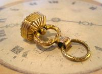 Georgian Pocket Watch Chain Fob 1830s Antique Large Gilt & Intaglio Stone Set Fob (2 of 11)