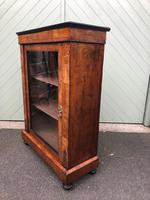Antique Inlaid Walnut Display Cabinet (6 of 10)