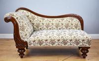 Small Victorian Mahogany Chaise Longue (2 of 8)