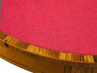 Pair of George III Style Satinwood Card Tables (8 of 15)