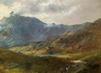 (2of2) Huge Magnificent 19thc Snowdonia Mountain Welsh Landscape Oil Painting (13 of 13)
