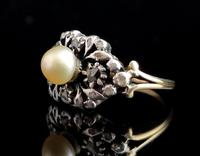Antique Georgian Diamond & Pearl Ring, 18ct Gold (8 of 14)