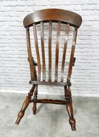 Large Windsor Lathback 'Grandfather' Armchair (5 of 5)
