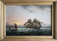 A fine marine painting by Thomas Luny 1750 – 1837 'Off Plymouth' (2 of 2)