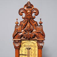 Victorian Carved Oak Admiral Fitzroy Barometer (2 of 6)