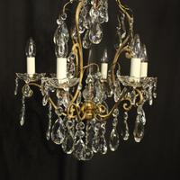 French Gilded Birdcage Antique Chandelier (2 of 10)