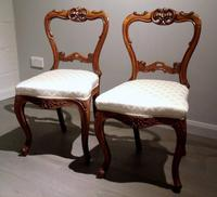 Pair of 19th Century Carved Satinwood Balloon Back Chairs (2 of 9)