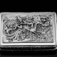 Rare Antique Georgian Solid Silver Mazeppa Snuff Box - Edward Smith 1836 (10 of 23)