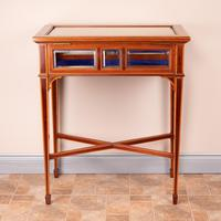 Fine Quality Edwardian Inlaid Mahogany Bijouterie Display Table (11 of 18)
