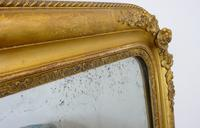 Large 19th Century Victorian Gilt Overmantle Mirror (11 of 14)