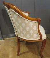 Louis XVI Style Tub Backed Armchair Newly Upholstery (6 of 9)