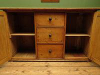 Victorian Rustic Antique Pine Sideboard Kitchen Unit (8 of 22)